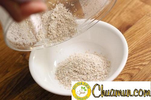 Hướng dẫn cách trị mụn bằng bột yến mạch